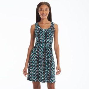 Turquoise/Black Daisy Fuentes sleeveless dress